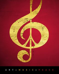 Free Shipping Under 10 Art Print Music Peace Notes by Inspireuart, $10.00