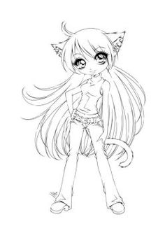 Anime Girl Coloring Pages Coloring Pages Pinterest