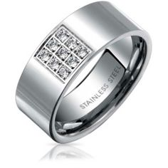 steel-grid-ring-engagement-band-cz_cl-sw2039_1 Best Deal Bling Jewelry Yes My Darling Ring