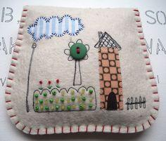 Lovely Little House Pouch. $31.00, via Etsy.