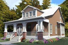 Craftsman Style House Plan - 4 Beds 3 Baths 2253 Sq/Ft Plan #63-381 Exterior - Front Elevation - Houseplans.com