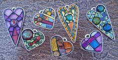 Mosaic Hearts by Gila Rayberg, via Flickr
