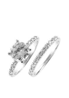 The Diamond Wedding Band and Engagement Ring Set Of Dreams