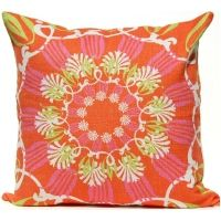 Scroll Suzani - Tropical Pillow
