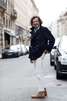 White jeans, no socks The Sartorialist The Sartorialist, Sharp Dressed Man, Well Dressed, White Pants, White Denim, Suit Up, Madame, Stylish Men, Dapper