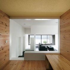 Gable House by Kouichi Kimura Architects Shiga, Japan Architecture, Contemporary Architecture, Gable House, Boundary Walls, Interior Decorating, Interior Design, Timber Flooring, Japanese House