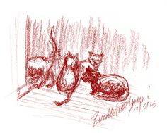 The Creative Cat - Daily Sketch: Impatiently Waiting for Dinner