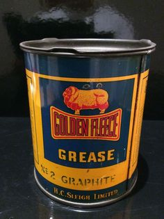 A great looking grease can by Golden Fleece PTY LTD