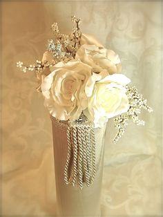 Wedding Champagne Holder Wine Holder Prewrapped by WrapsodyandInk