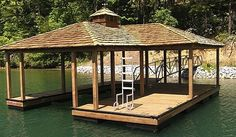 Pictures of custom boat docks, boat lifts & lake erosion control