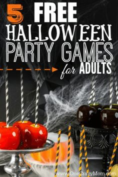 Here are some easy Halloween Party Games for Adults that will cost you nothing. Adults can have fun at Halloween too without breaking the bank.Try these easy Halloween party ideas for adults. Halloween Party Games, Halloween Tags, Halloween Games Adults, Haloween Party, Halloween School Treats, Halloween Party Supplies, Halloween Birthday, Easy Halloween, Halloween Activities