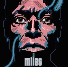 garth glazier illustration - Miles Davis