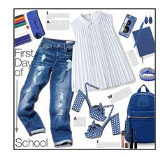 """""""Back to school"""" by marionmeyer on Polyvore featuring Mode, Tommy Hilfiger, Lacoste, Tabitha Simmons, Marc Jacobs, 1928, Kim Rogers, School of Life, Kate Spade und Tom Ford"""