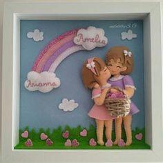Felt Diy, Felt Crafts, Diy And Crafts, Arts And Crafts, Felt Wall Hanging, Felt Wreath, Clay Figurine, Fondant Figures, Personalized Baby Gifts