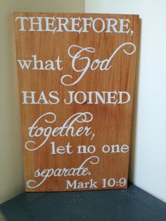 ready to ship What God has Joined together let no one separate by MamaHessPainting, $30.00, Mark 10:9