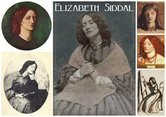 Elizabeth Siddal, photograph painted over by Dante Gabriel Rossetti Dante Gabriel Rossetti, John William Waterhouse, Women In History, Art History, John Everett Millais Ophelia, Elizabeth Siddal, Pre Raphaelite Brotherhood, Morris, Artists And Models