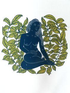Garden of Her. Linocut print by Ellen von Weigand. £125