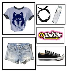 """""""#343 Pinkpop"""" by xjet1998x ❤ liked on Polyvore featuring Abercrombie & Fitch, Converse, women's clothing, women, female, woman, misses and juniors"""