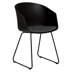 Dining Chairs - Scoop Dining Chair w Sleigh Leg