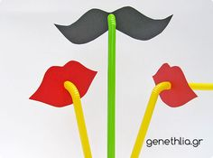 funny mustache and smile straws!!!free printable!