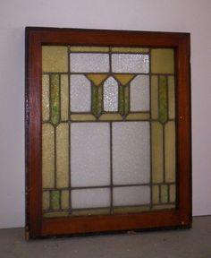 Antique Stained Leaded Glass Window C1917