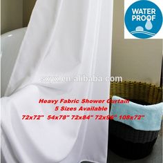 Bathroom Curtains, Fabric Shower Curtains, Hotel Shower Curtain, White Fabrics, Storage Organization, App, Water, Check, Gripe Water