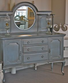Elegant Formal Hutch with Round Bevelled by CasualChicCorner, $1200.00