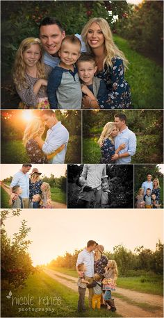 Love The Saturated Colors Lighting And Easy Poses Nicole Renee Photography Fall Family