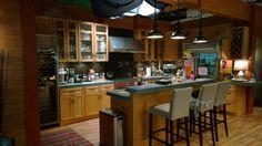 Série Grey's Anatomy. Cuisine de la maison de rêve de Meredith et Derek.