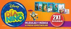 Sears: 2×1 en peliculas de Disney Tiendas Sears tiene una promoción similar a la deBlockbuster,pues tambiénesta festejando eldíadel niño en grande conpelículas y Música a precio espectacular, pues tienen 2×1 en peliculas de Disney. *No participan peliculas Frozen y Thor en los dif... -> http://www.cuponofertas.com.mx/oferta/sears-2x1-en-peliculas-de-disney/