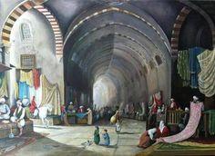Kapalıçarşı ( Covered Bazaar In Century ) Turkish Art, Grand Bazaar, 19th Century, Art Pieces, Street View, Artwork, Poster, Pictures, Outdoor