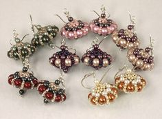 The designer is from Hungary--to get her permission, we (beadsandmore  members) tracked her down in an  international search.  They are called  Sultan's earrings--truly gorgeous!