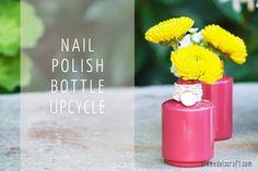 DIY: Flower Bud Vases from Nail Polish Bottles