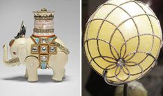 """THIS long lost robot elephant, originally hidden as a """"surprise"""" in a priceless Faberge egg, has been discovered in the Royal Family's art collection."""