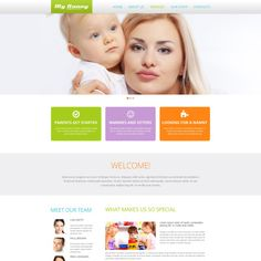 Babysitter Responsive Website Theme