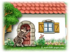 keep sharing your light :): ~ Little Red Riding Hood ~ Little Birds, Little Red, Sleeping Wolf, Red Riding Hood Story, Good To See You, Stories For Kids, Bird Houses, Garden Sculpture, Coloring Pages