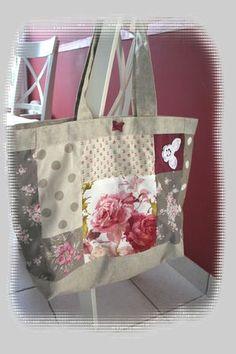 sac cabas patchwork chez poussiR2lune