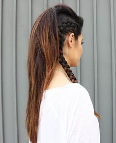 Faux Hawk Ponytail With Braids Tutorial by Glam Latte