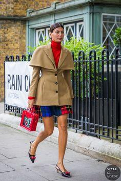 London SS 2018 Street Style: Giovanna Battaglia Engelbert