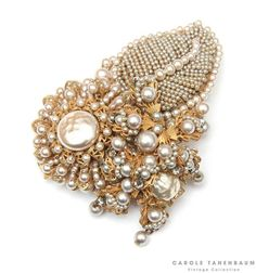 Beautiful Miriam Haskell pearl brooch.  This brooch is a prototype from the…