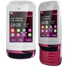Nokia C2-03 Touch and Type Dualsim Chrome Red