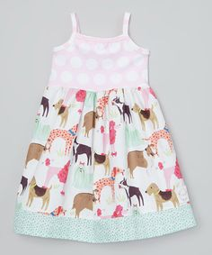 Look at this Sutton's Buttons Mint & Pink Puppy Love Tank Dress - Infant, Toddler & Girls on #zulily today!