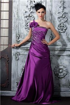 Sheath Floor-Length One-Shoulder Polina's Evening Dress : Tidebuy.com,tidebuy price:$155.92