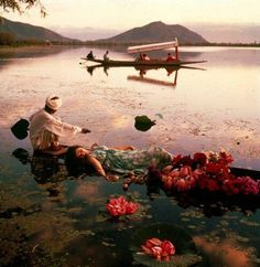 Norman Parkinson India | Norman Parkinson, Barbara Mullen floating in a cotton mousseline dress ...