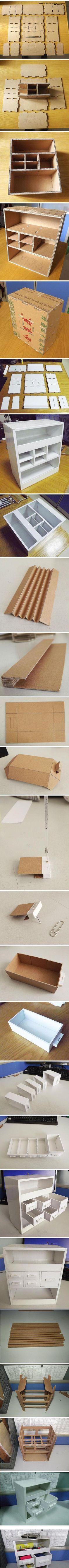 .Impressive, cardboard drawers