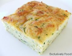 Exclusively Food: Zucchini Slice Recipe