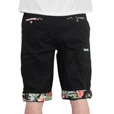 nouvelle collection 2014 Standard & Grind - Flowers Twill Short Black