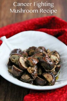 Roasted Mushrooms and Thyme {Superfood Research at City of Hope}