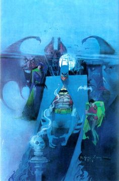 gothamart:  Batman by Bill Sienkiewicz