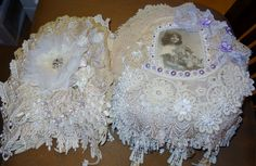 Fabric/Doily Book - Pages 1&2